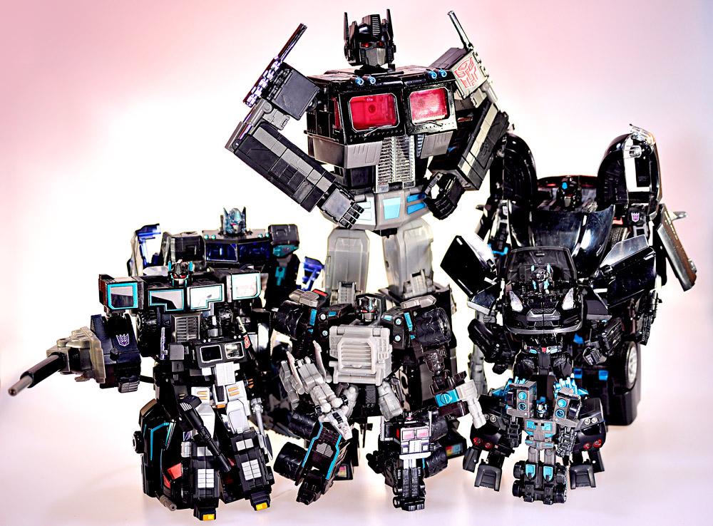 Transformers E-hobby Masterpiece MP-1B Black Convoy - Super Black Alternity Convoy - SDCC Alternator Nemesis Prime - Spychanger Scourge - Micron Legend Scourge - Black Robotmasters Convoy - SDCC Universe 2.0 Nemesis Prime