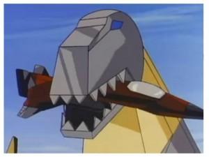 Grimlock eats Thrust in the Transformers series 2 intro