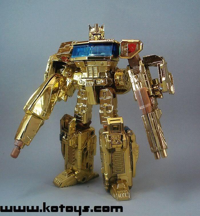KOLD gold chrome classics Optimus Prime