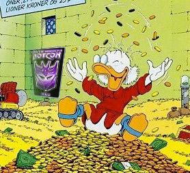 Scrooge McDuck enjoys Botcon 2010 in Disney World