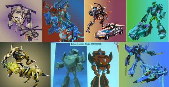 The unreleased Transformers Animated Toys Rodimus Ironhide Thundercracker Wasp