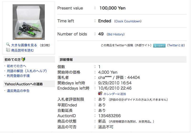 Lucky Draw Black Micron Legend Megatron sells for 1000 yen