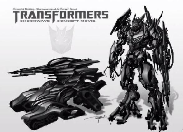 Transformers 3 Shockwave concept art