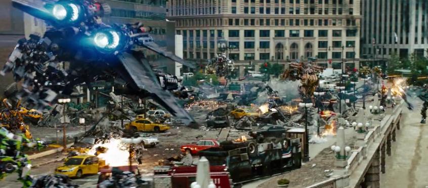 Transformers 3 dark of the moon Optimus flies in