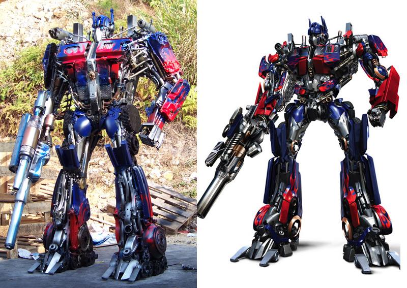 Scrapmetal Movie Optimus Prime render and sculpture