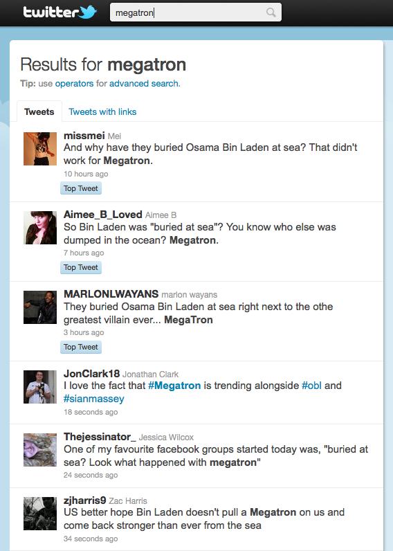 #megatron trending on twitter