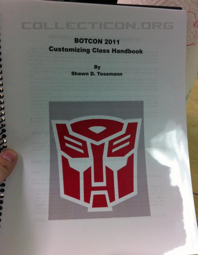 Botcon 2011 customizing class book