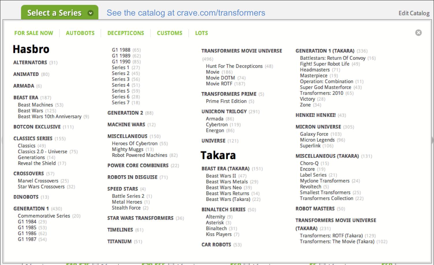Crave.com screenshot