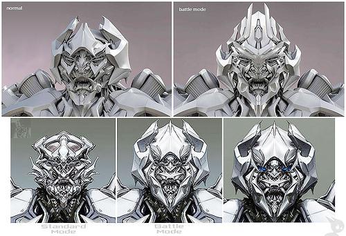 Transformers Movie Megatron head design
