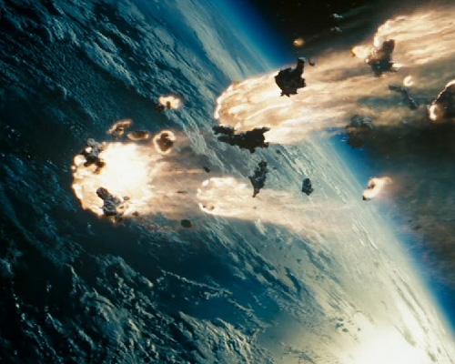 Transformers crash land on earth
