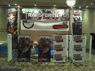 Transformers pinball at pinball expo