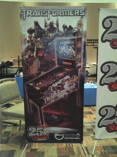 Transformers pinball banner