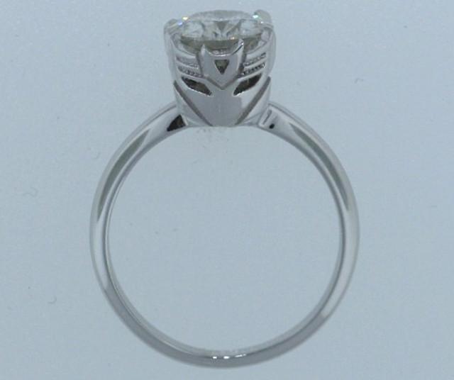 Decepticon Engagement ring diamond setting