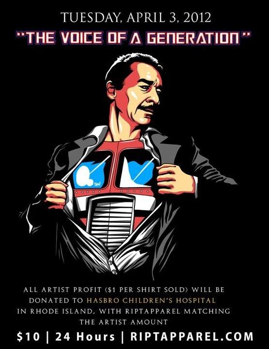 Peter Cullen charity t-shirt from RIPT Apparel