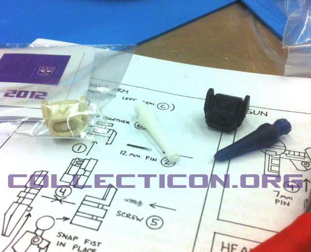 Botcon 2012 custom class parts resin shockwave head gun arm