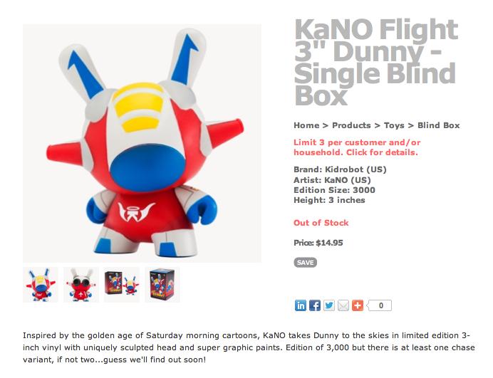Kid Robot Flight Dunny (Starscream) available at Rotofugi