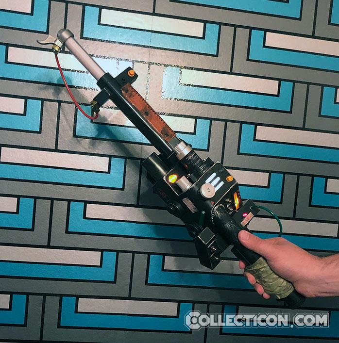 Ghostbusters Plasma Series Egon's Neutrona Wand in hand
