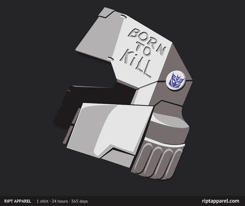 "Transformers meet Stanley Kubrick – ""Full Die-cast Jacket"" shirt at RIPT tomorrow"